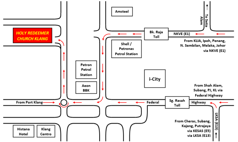 Illustrated Location map of HRC Klang